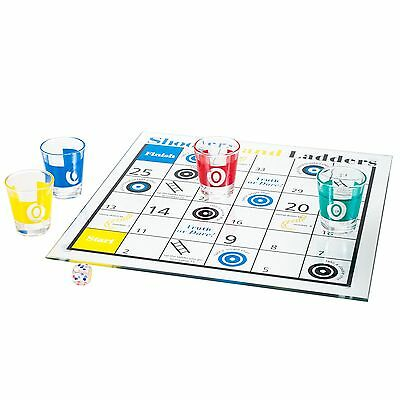 Shooters & Ladders Drinking Game Set Board Game Shot Glasses