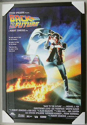 "Back To The Future Framed Poster ""black Timber"" Michael J Fox ""ready To Hang"""
