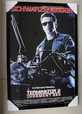 "Terminator 2 Framed Poster ""black Timber"" Arnold ""ready To Hang"" Judgment Day"