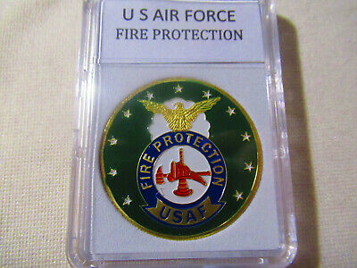 U S AIR FORCE Fire Protection Badge Challenge Coin