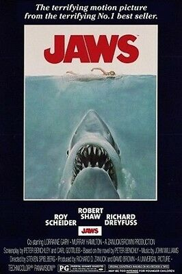 """JAWS POSTER """"BRAND NEW"""" OFFICIAL """"LARGE SIZE 61 cm X 91.5 cm"""""""