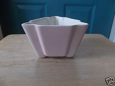 Red Wing USA Art Pottery Pink and White Triangular Planter