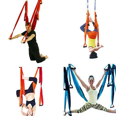 1 X Flying Hammock Inversion Swing / Sling Aerial Pilates Yoga Fitness 4 Colors