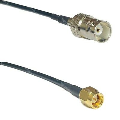 USA-CA RG174 SMB MALE to SMB FEMALE Coaxial RF Pigtail Cable