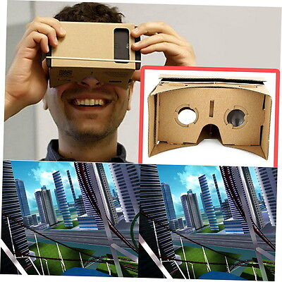 Ulter Clear DIY Cardboard 3D VR Virtual Reality Glasses For Smartphone GU