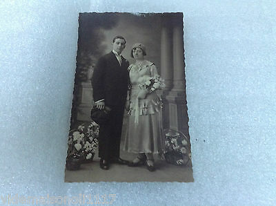 "Ancienne carte postale photo "" couple """
