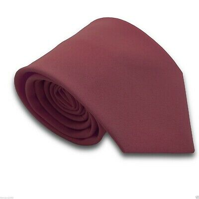 Mens Matt Burgundy Maroon Workwear Standard Traditional Tie Made in UK