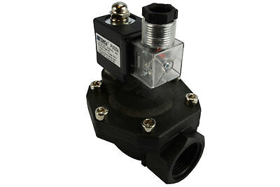 "1"" BSPP Electric Plastic Solenoid Air Water Valve NC 110V AC pneumatic"