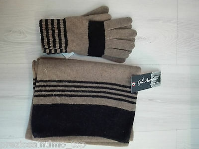 écharpe e gants pour hommes Laine Mérinos scarves gloves Made in Italy luxe