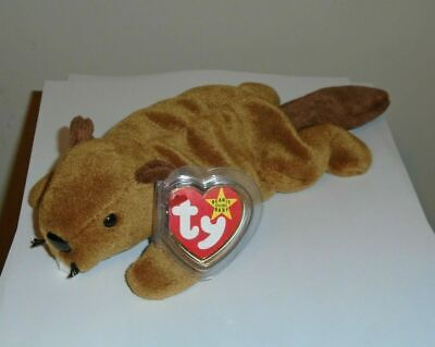 Ty Beanie Baby ~ BUCKY the Beaver ~ MINT with MINT TAGS ~ RETIRED