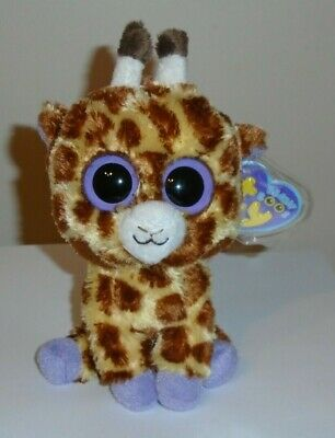"Ty Beanie Boos ~ SAFARI the 6"" Giraffe (2013 Purple TAGS) ~ MINT with MINT TAGS"