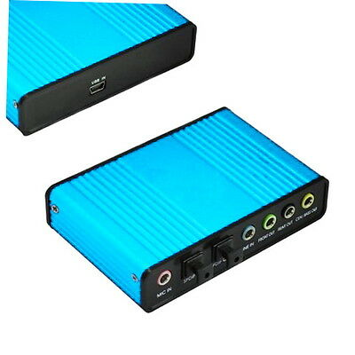USB 6 Channel 5.1 Audio External Optical Sound Card Adapter For Laptop Skype GO