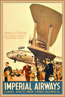 Vintage Sabena Airways Flights to India Airline  Poster Print A3//A4
