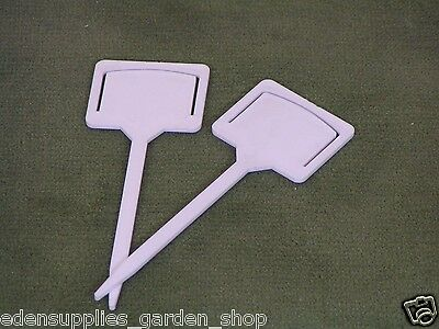 Seed packet holders white plastic garden labels to hold seed packets x 10 new