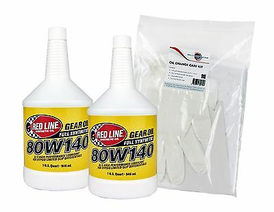 Red Line 80W140 LSD Differential Gear Oil Twin Pack, API GL-5, GL-6, MT-1