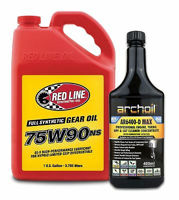 Red Line 75W90 NS Differential LSD Diff Oil US GALLON 3.785 Litres, Ferrari