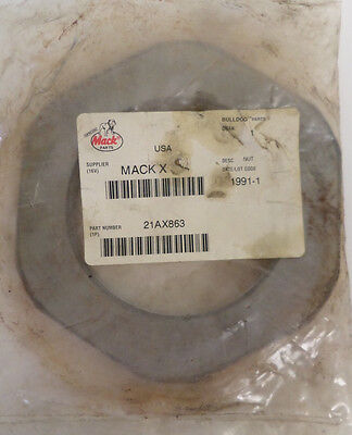 New Genuine Mack 21AX863 Axle Spindle Nut