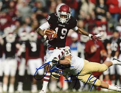 Robby Anderson Action Temple Owls Signed Autographed  8X10 Photo