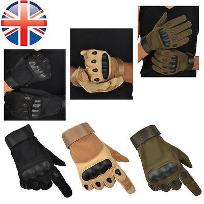 *UK Seller* Full Finger Paintball Airsoft Cycling Military Armoured Gloves