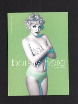 2003 Magazine 8.5x11 Print Ad~Bali~Barely There~Lingerie~Green~Blonde~A190