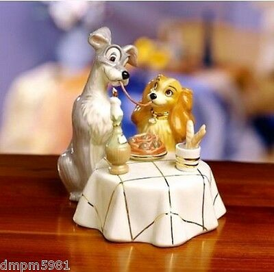 Lenox Lady and the Tramp Spaghetti Dinner Figurine NEW IN BOX