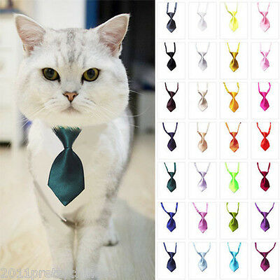 Adjustable Puppy Dog Cat Pet's Grooming Necktie Adorable Kitten Neck Tie Collar