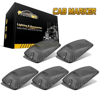 5x Cab Marker Roof Clearance Clear Cover/& 3020 12V LED /& Base Housing For Ford