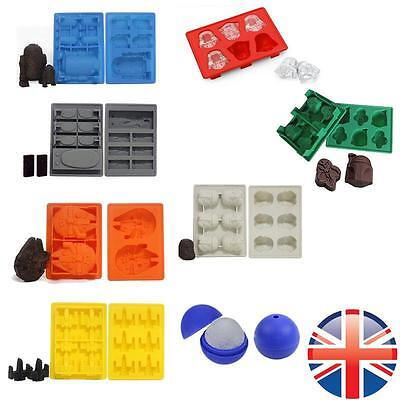 *UK Seller* Silicone Star Wars Cake Cookies Chocolate Soap Ice Cube Tray Mould