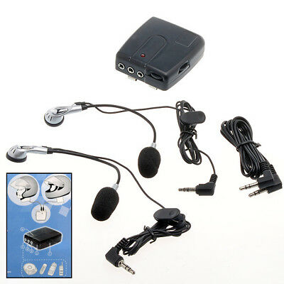 Intercom Interphone Moto Communication Pilote Passager Casque Filaire Oreillette