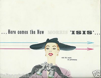 Morris Isis 1955 Original Brochure Beautiful Illustrations Excellent Condition