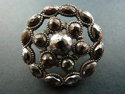 Set Of Six Superb Riveted Polished Steel Buttons