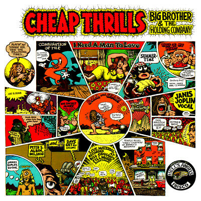 "Album Covers- Big Brother & The Holding Co.- Cheap Thrills (1967) Poster 24""x24"""