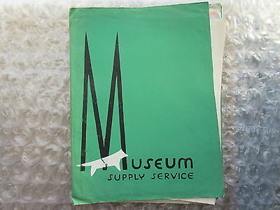 Old 1955 Museum Supply Service Catalog Madison Wisconsin
