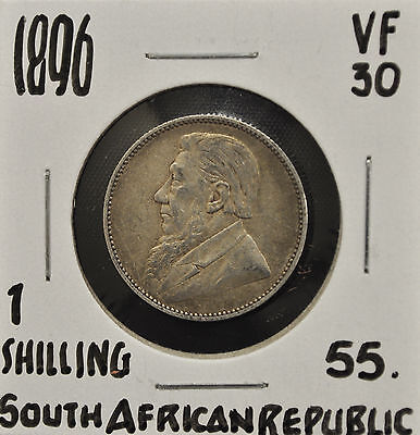 1896 South Africa 1 Shilling VF-30