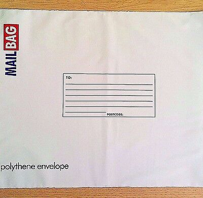 NEW - POLY MAIL BAGS - ALL SIZES - Post Parcel Postal Mailing White Bag Envelope