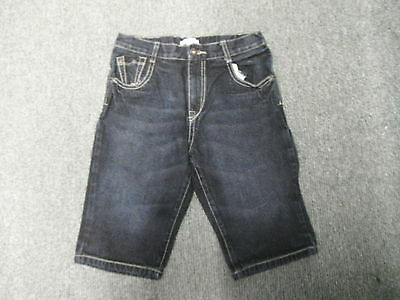 "Blue Zoo Denim Shorts Jeans Waist 26"" Faded Dark Blue Boys 12 Yrs Jeans"