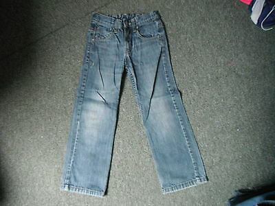 "Next Straight Leg Jeans Waist 23"" Leg 20"" Faded Dark Blue Boys 7 Yrs Jeans"