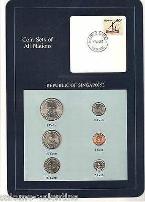 Franklin Mint Coin Sets Of All Nations Singapore **mint Uncirculated