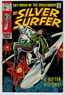 Silver Surfer #11 5.0 1969 Off-White/white Pages Silver Age