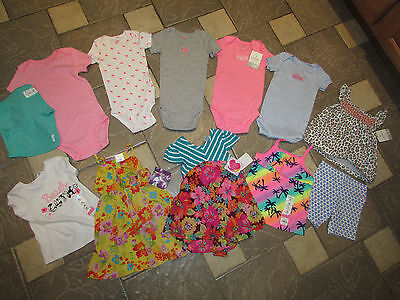 New Lot /12 Baby Girl Clothing Carters Dresses Shorts Rompers 24 Months Free Shp