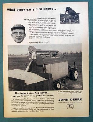 Orig 1960 John Deere Ad Photo Endorsed by Kenneth Buswell of Lweistown, Illinois