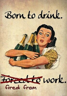 FV9 Vintage Style Women Not Bossy Just Better Ideas Funny Poster Print A2//A3//A4