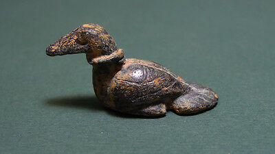 Ancient Weight Duck Shape Ex. Rare Bronze Egypt 2000-1000 Bc