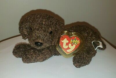 Ty Beanie Baby ~ FETCHER the Puppy Dog ~ MINT with MINT TAGS ~ RETIRED