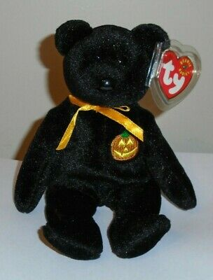 Ty Beanie Baby ~ HAUNT the Halloween Bear ~ MINT with MINT TAGS ~ RETIRED