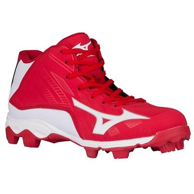 Mizuno Advanced Franchise 8 MID YOUTH Baseball Molded Cleats NIB Red/White