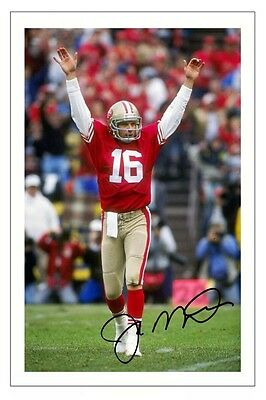 Joe Montana San Francisco 49Ers Signed Photo Autograph Print Nfl Football