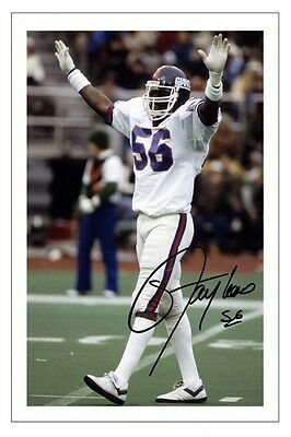 Lawrence Taylor New York Giants Signed Photo Autograph Print Nfl Football