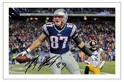 Rob Gronkowski New England Patriots Signed Photo Autograph Print Nfl Football