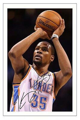 Kevin Durant Oklahoma City Thunder Autograph Signed Photo Print Basketball